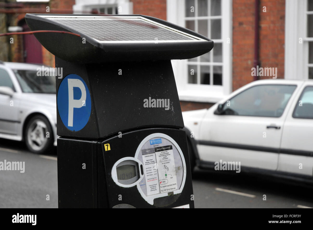 A car parking  meter in Shropshire, UK - Stock Image