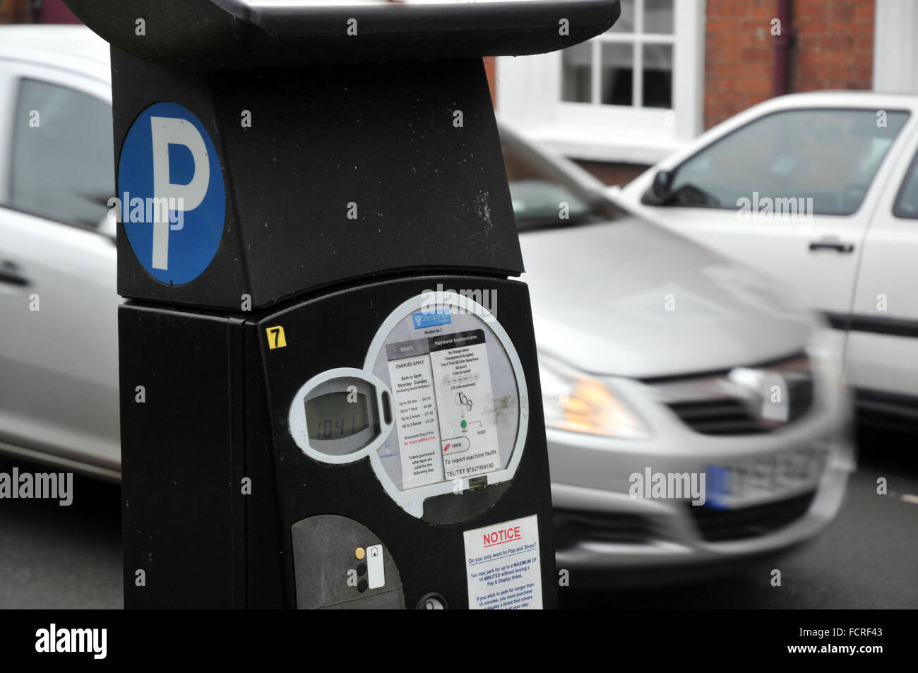 A car parking meter in Ludlow, Shropshire. - Stock Image