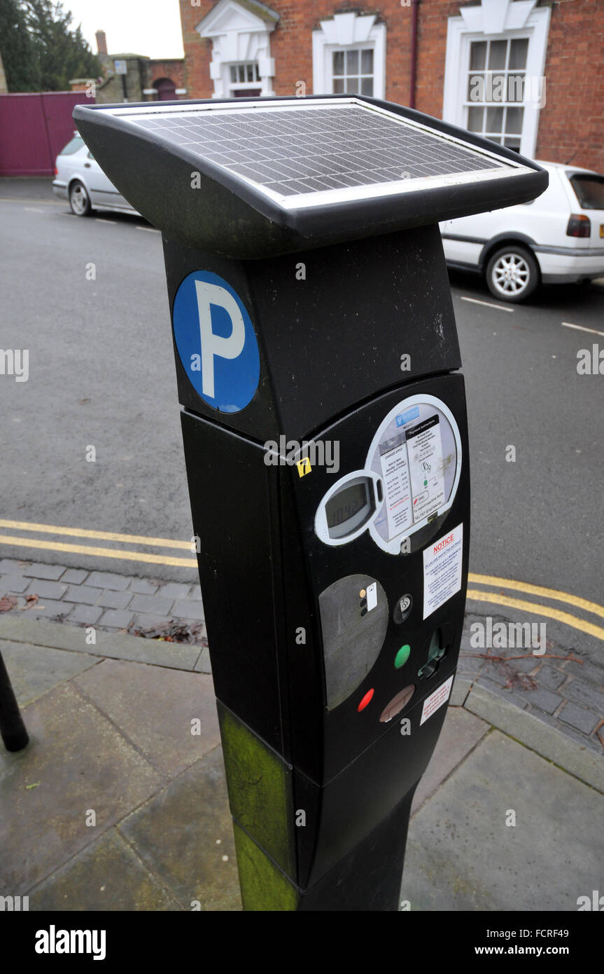 A car parking meter in Ludlow, Shropshire - Stock Image