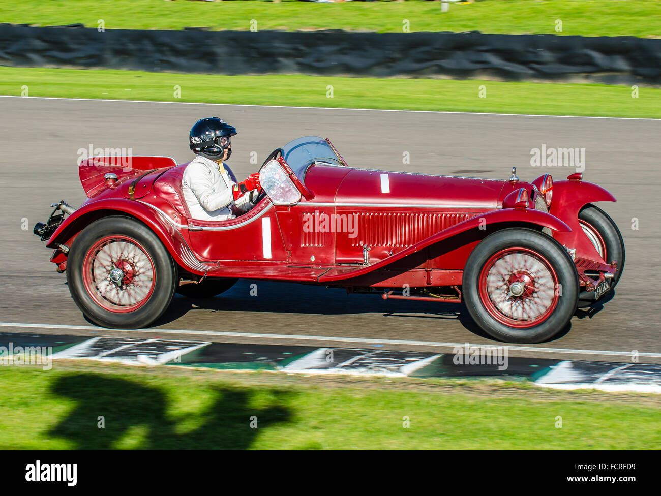 A 1931 Alfa Romeo 8C 2300 MM Owned By Alain De Cadenet And Driven By Him