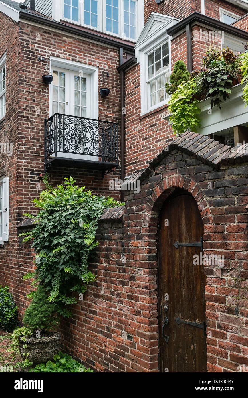 Townhouse, Old City, Philadelphia, Pennsylvania, USA - Stock Image