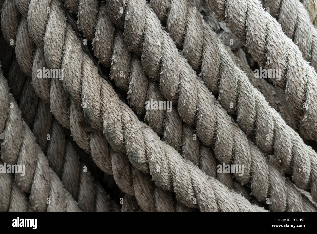 Close-up of nautical rope. - Stock Image