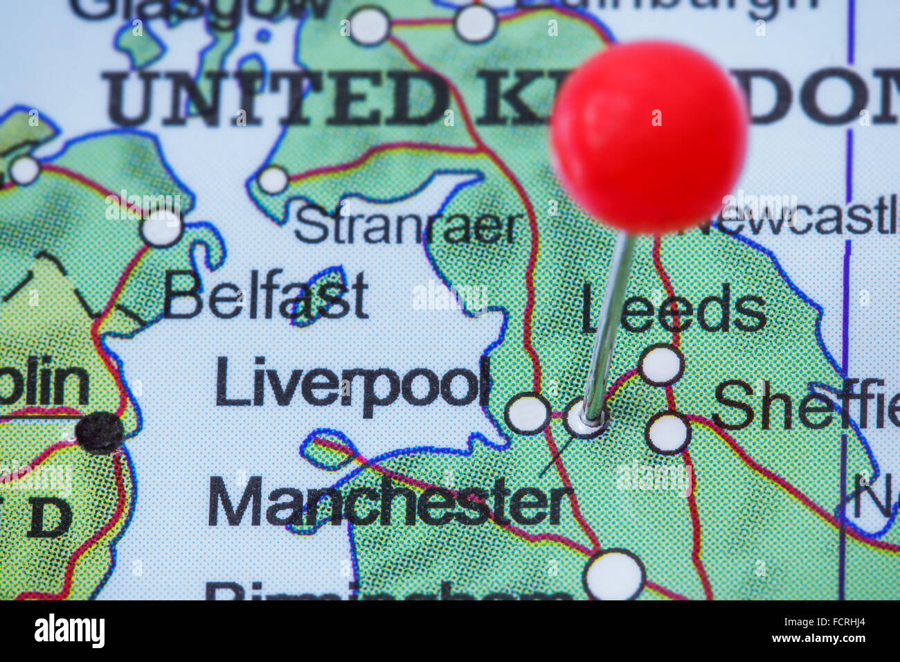 Manchester Map Stock Photos & Manchester Map Stock Images - Alamy