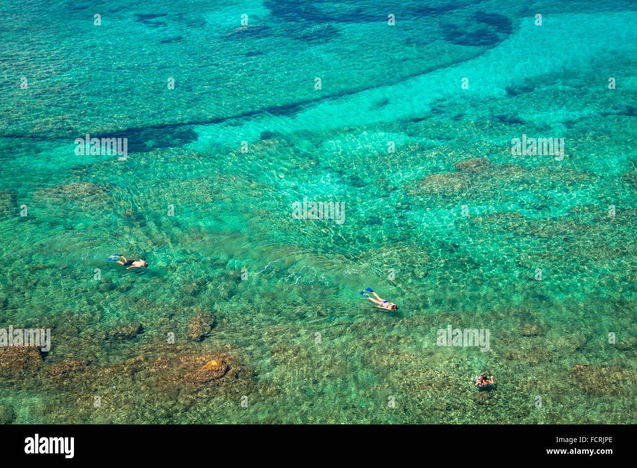 Ibiza Punta de Xarraca turquoise beach paradise in Balearic Islands - Stock Image