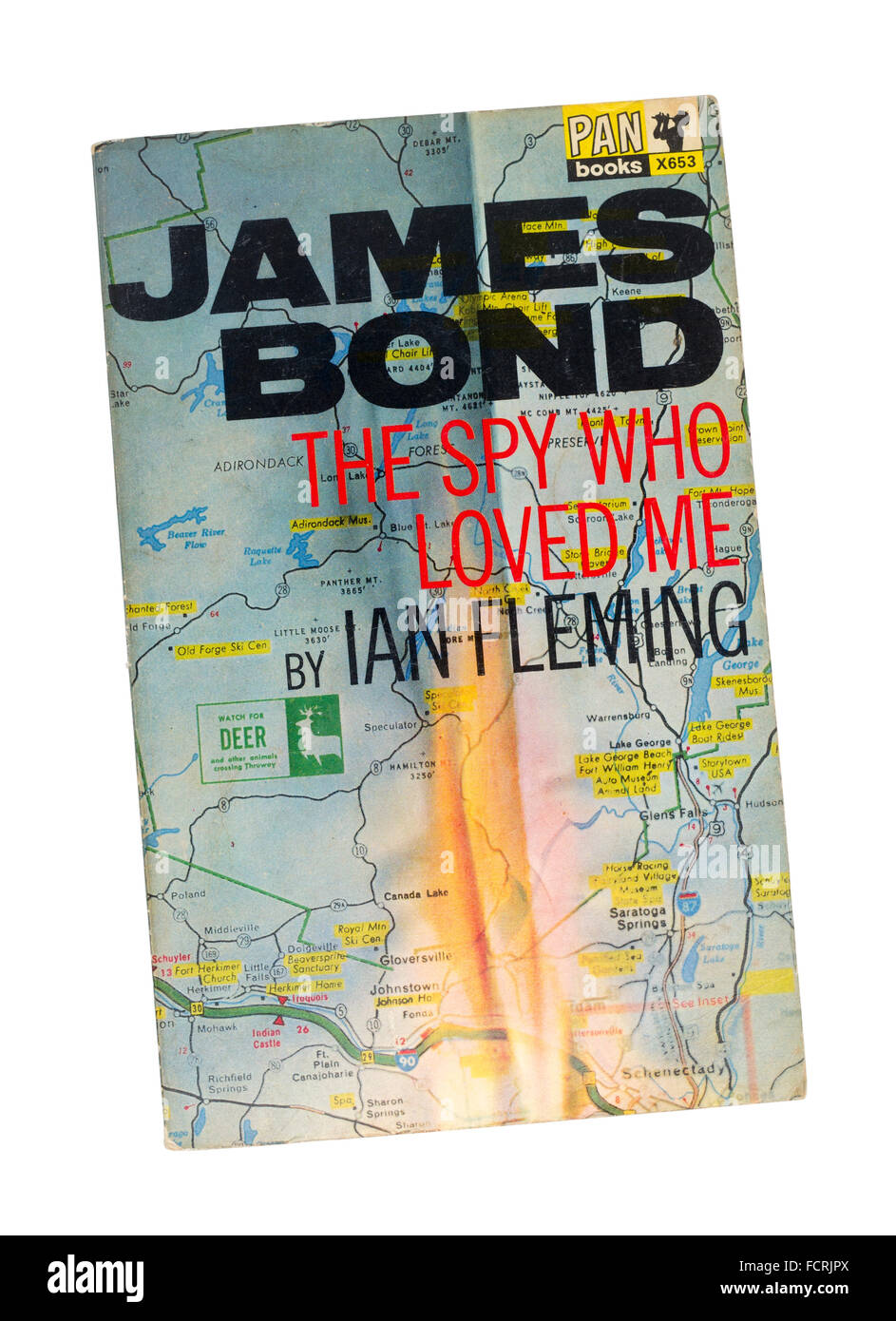 James Bond, The Spy Who Loved Me Paperback Book by Author Ian Fleming - Stock Image