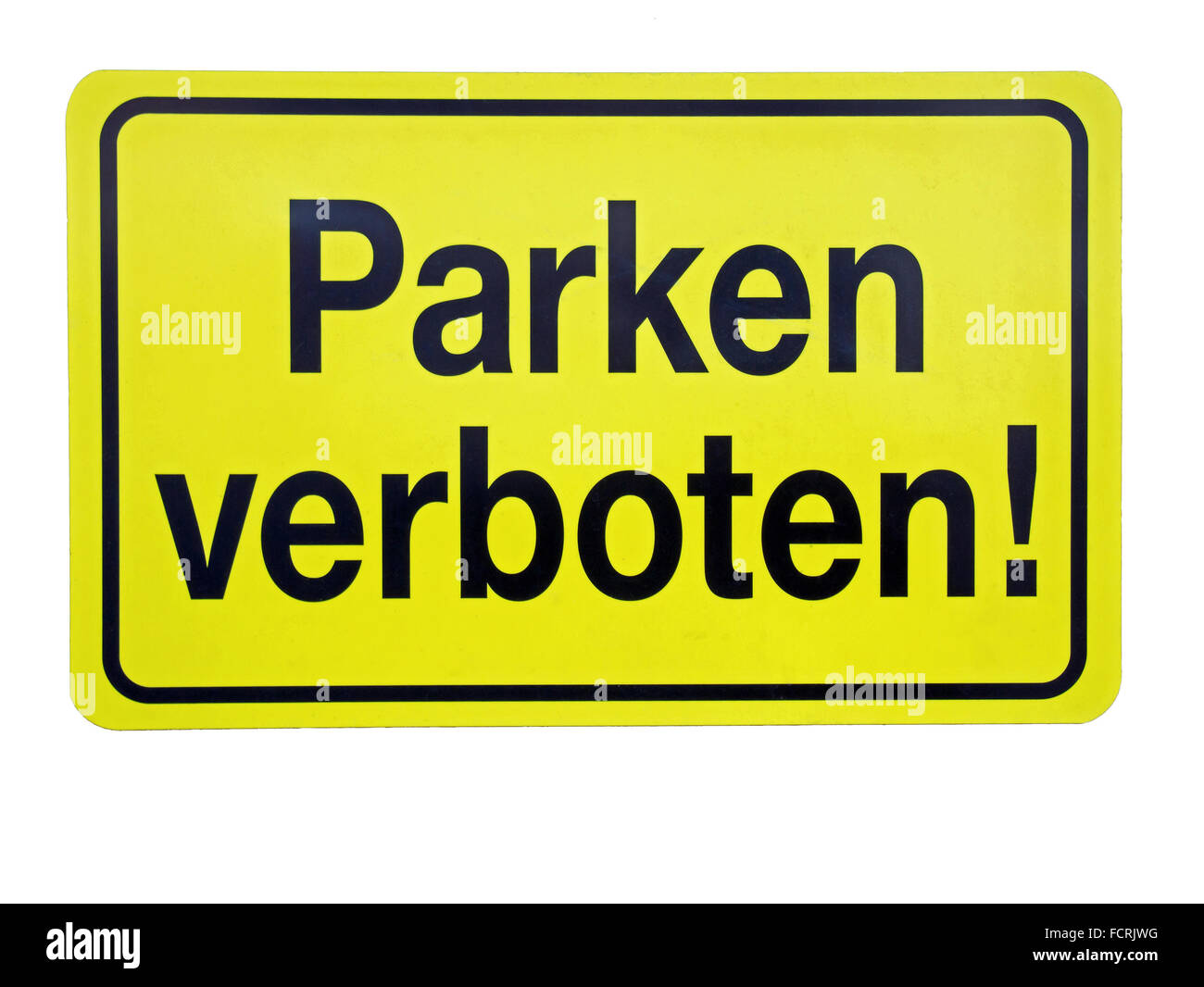 no-parking zone, traffic sign, isolated on white background - Stock Image