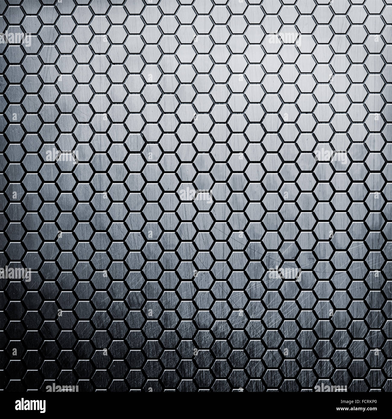 Metal background with hexahedron texture - Stock Image