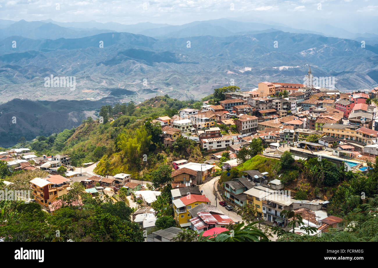 Zaruma - Town in the Andes, Ecuador. Located in the southern province of El Oro (meaning literally 'the gold') - Stock Image