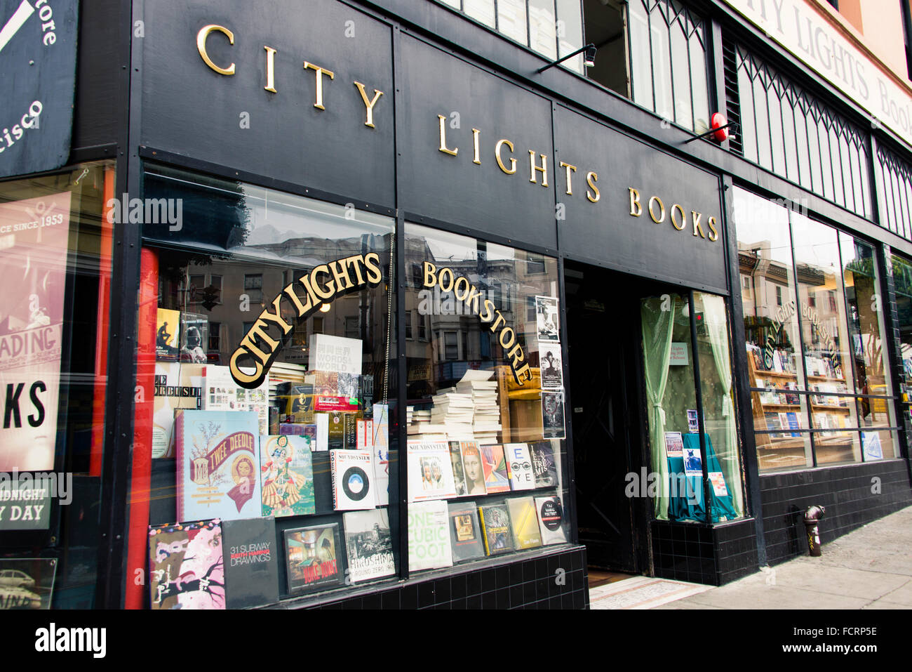 City Lights Bookstore, San Francisco, California - Stock Image