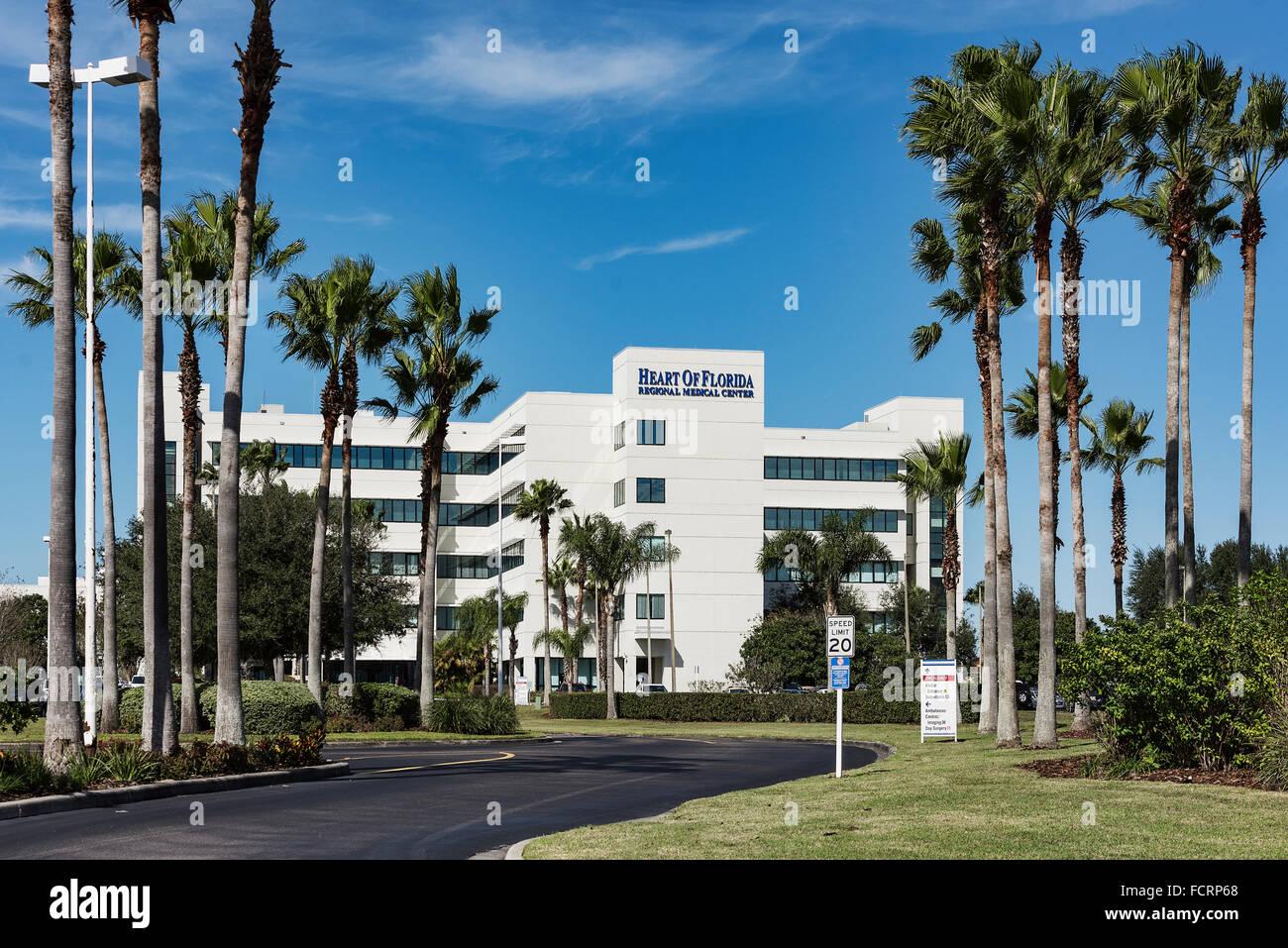 Heart of Florida Regional Medical Center, Davenport, Florida, USA - Stock Image