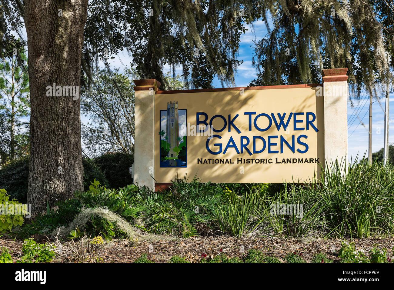 Bok Tower Gardens, Lake Wales, Florida, USA - Stock Image