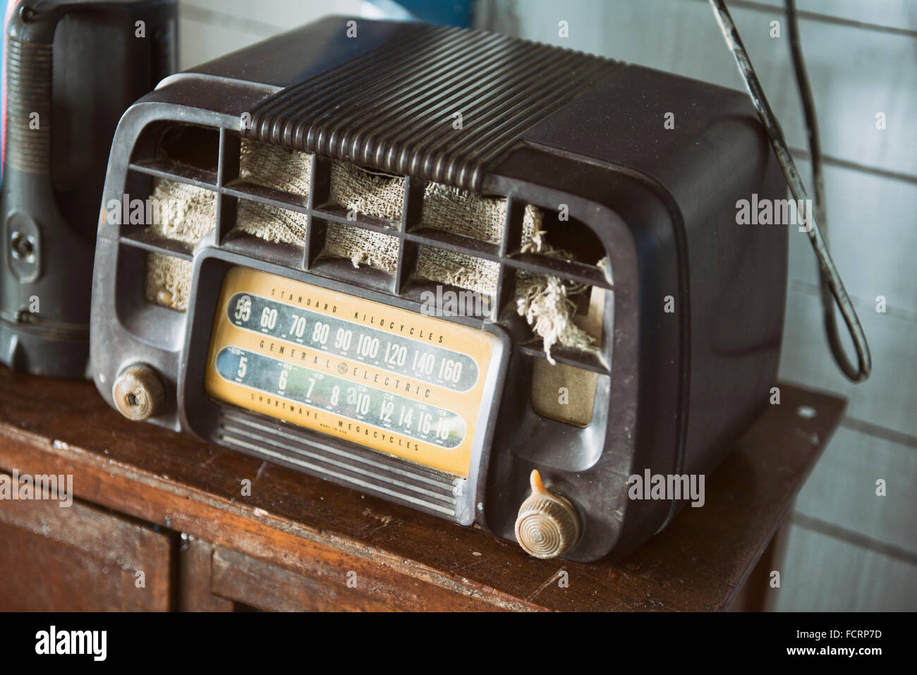 Old Wireless, Radio Shortwave, General Electric, GE - Stock Image