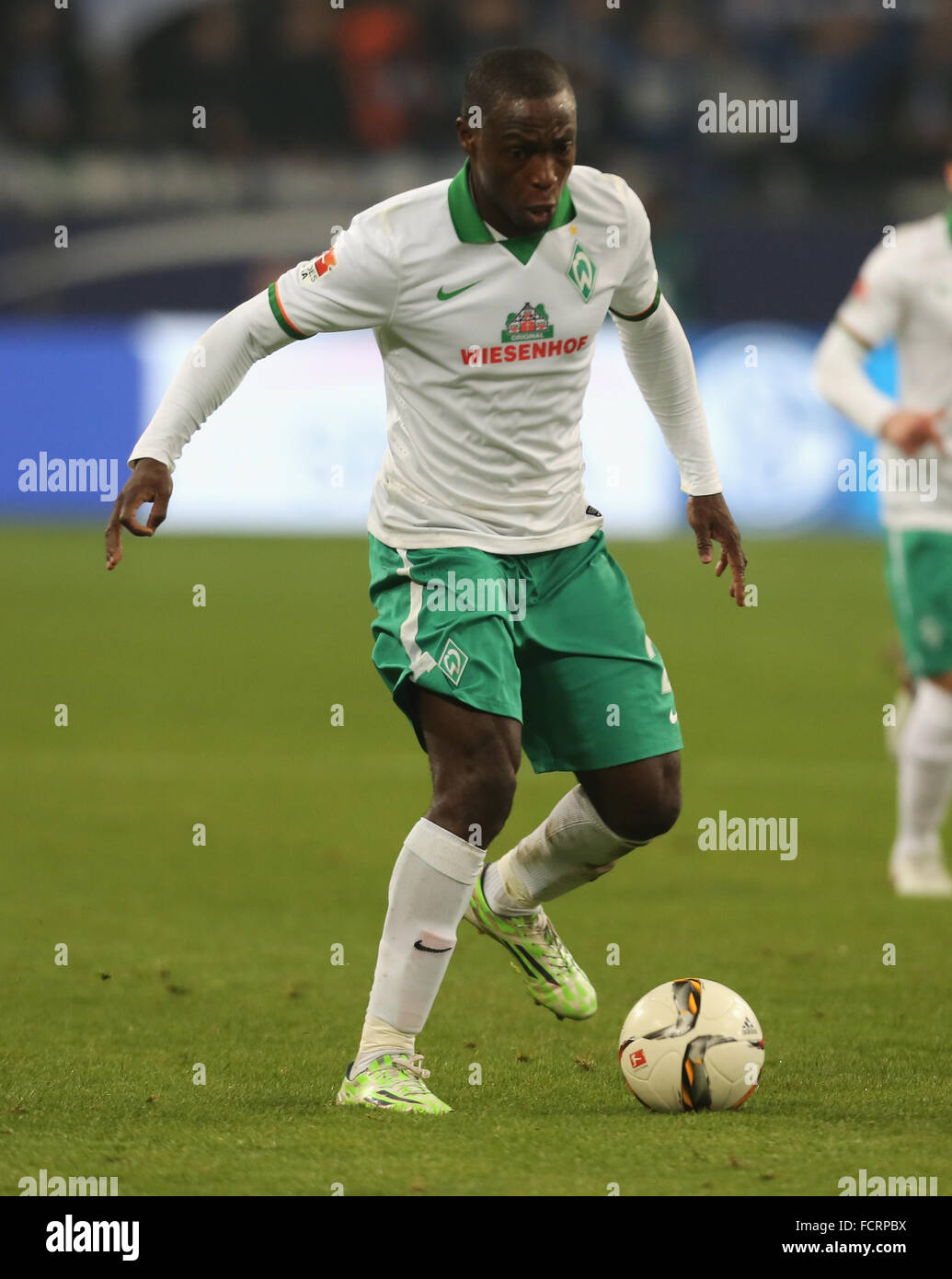 Gelsenkirchen, Germany. 24th January, 2016. Football Bundesliga, FC Schalke 04 vs Werder Bremen, Gelsenkirchen, - Stock Image