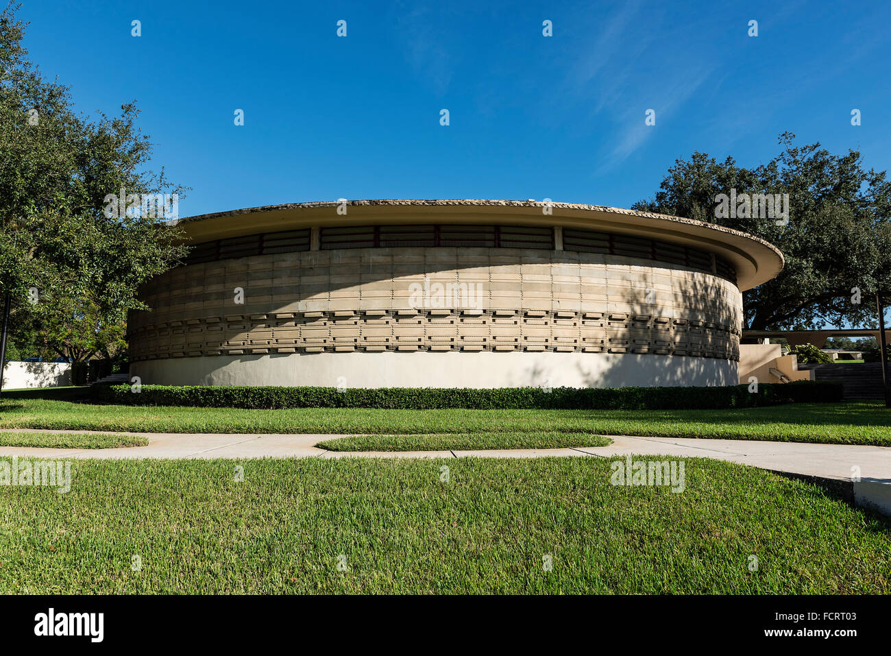 Thad Buckner Building designed by Frank Loyd Wright for Florida Southern College, Lakeland, Florida, USA - Stock Image