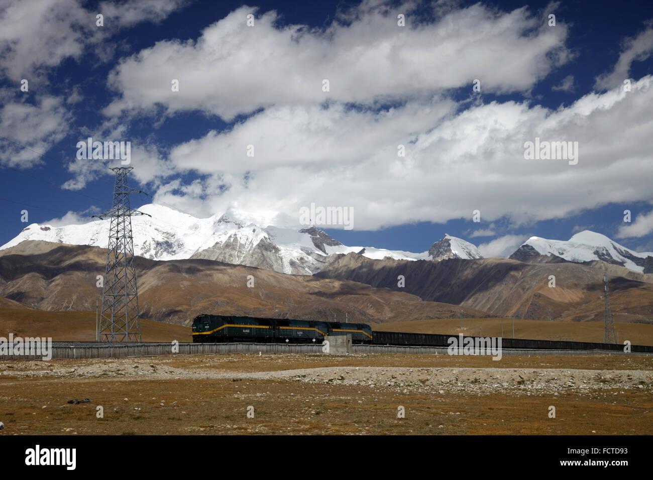Qinghai Tibet Railway - Stock Image