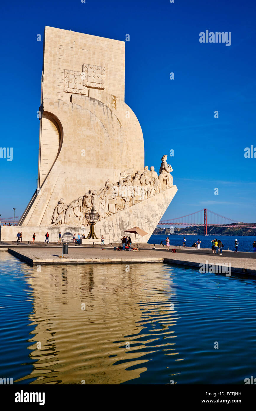 Portugal, Lisbon, Belem, Padrao dos Descobrimentos (Monument to the Discoveries - Stock Image