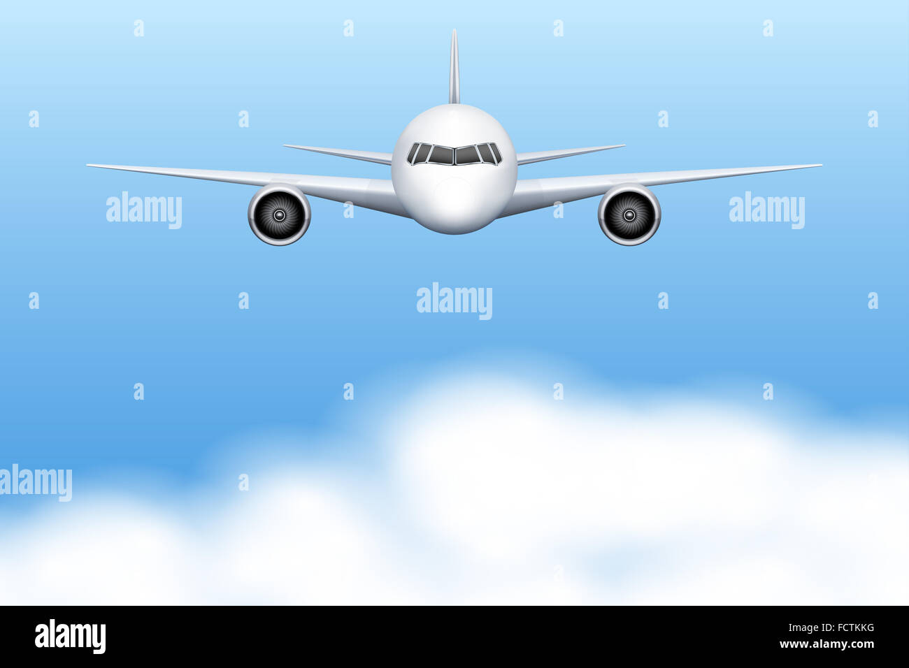 Civil Aircraft airplane - Stock Image