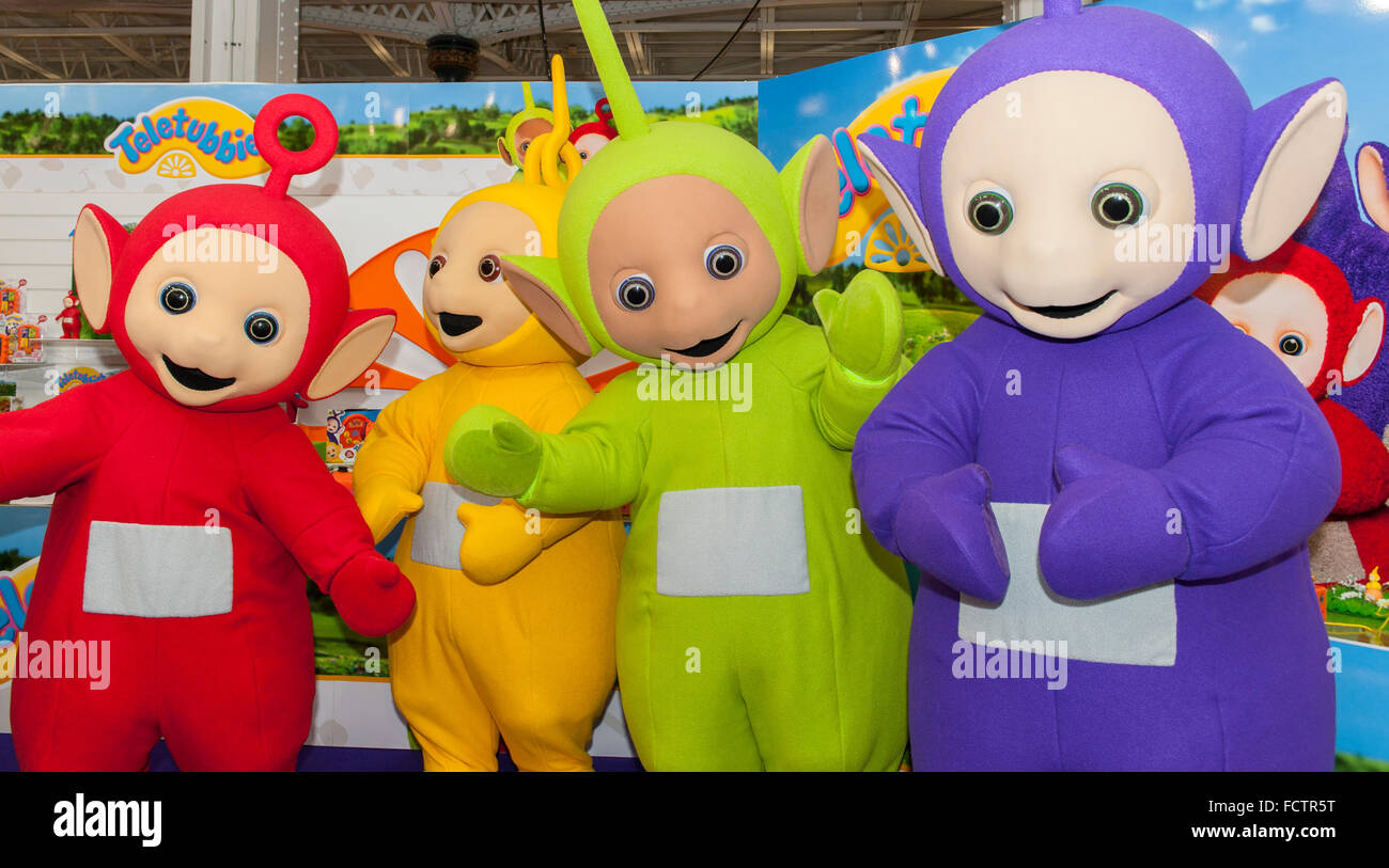 Olympia London Uk 25th January 2016 The Teletubbies Appear On