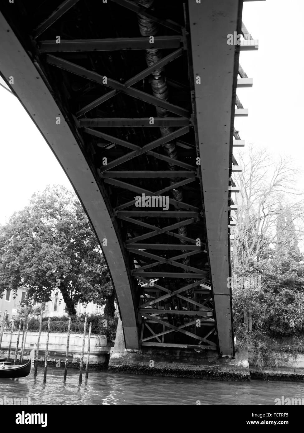 Academia bridge over Grand Canal, Venice, Italy - Stock Image