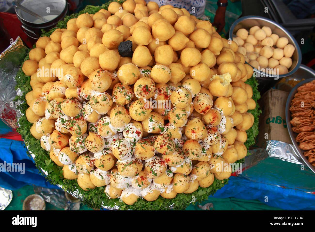 Fast food stall, Pushkar, Rajasthan, India - Stock Image