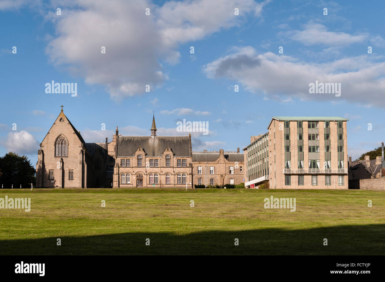 a now redundant Catholic seminary. The East Wing, Infirmary and Library - Stock Image