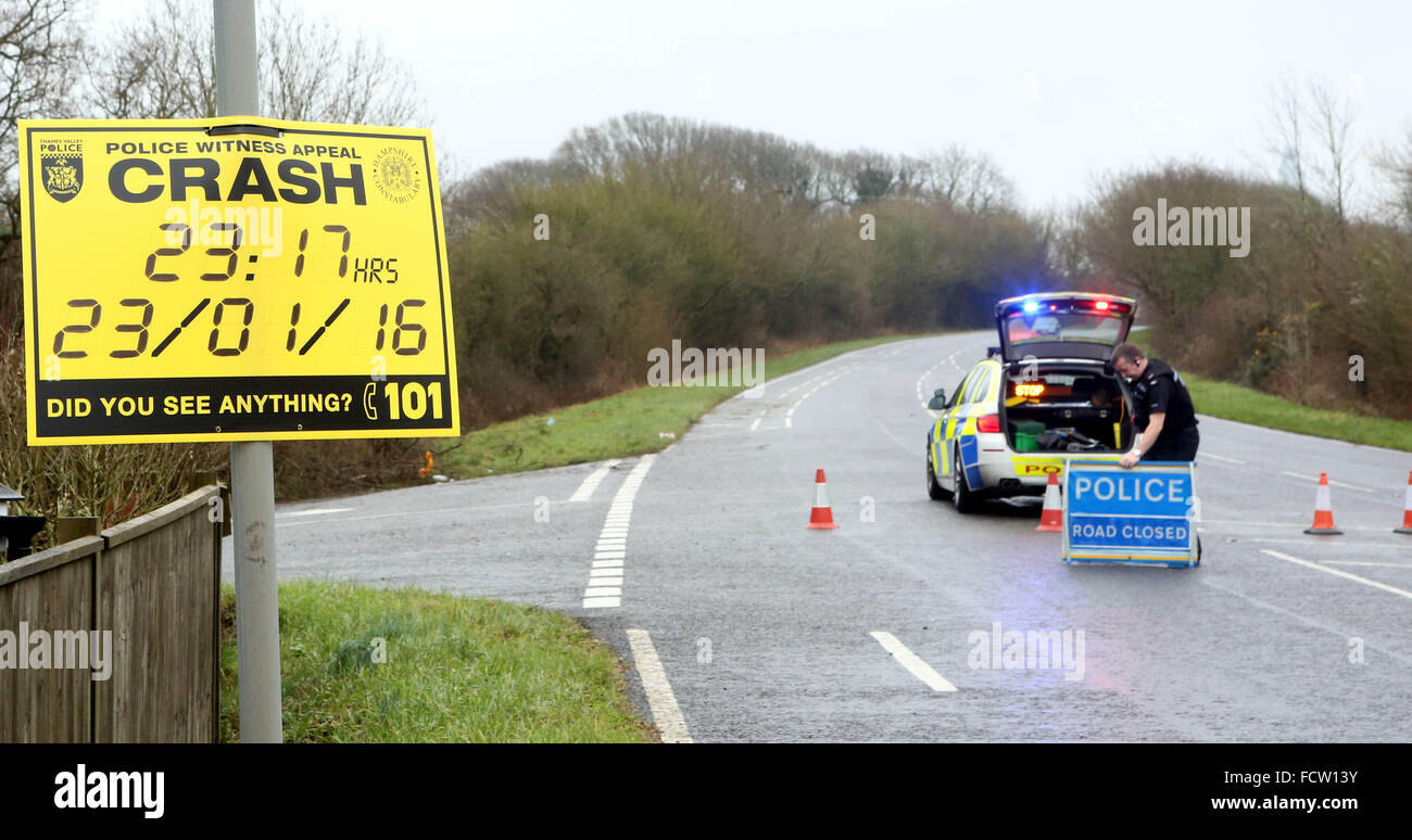 Portsmouth, Hampshire, Sunday 24th January 2016  A man has been arrested after a teenager was killed and another - Stock Image