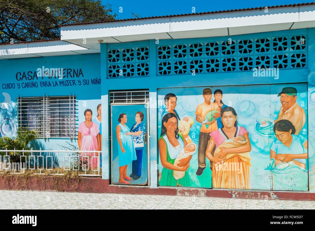 Casa Materna maternity clinic in this progressive northern commercial city; Esteli, Nicaragua, Central America - Stock Image