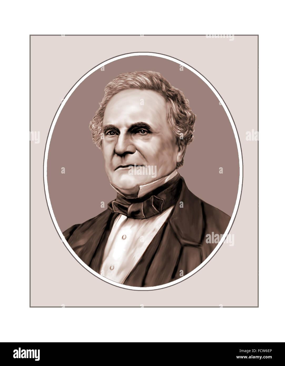 Charles Babbage, Polymath, Mathematician, Portrait - Stock Image