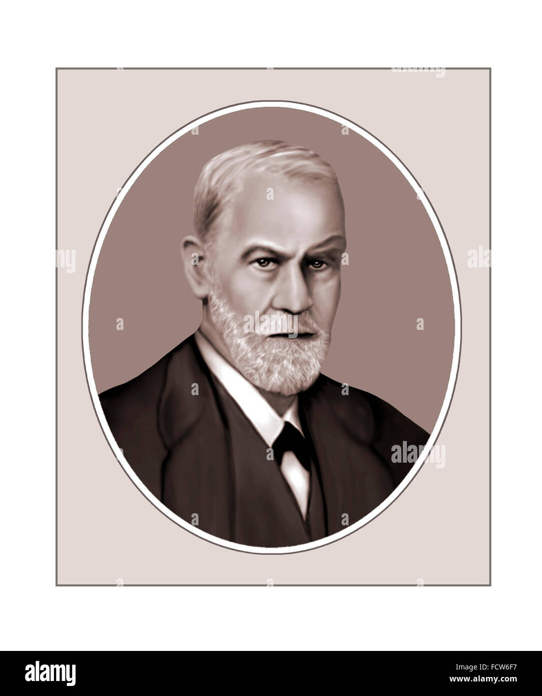 Sigmund Freud, Austrian Psychoanalyst, Portrait - Stock Image