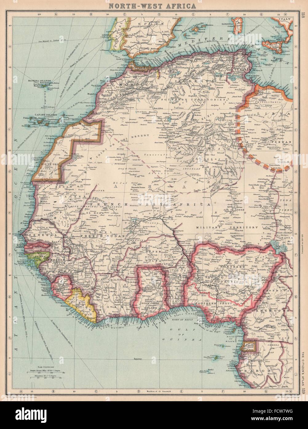 NORTH WEST AFRICA:Rio de Oro,Rio Muni, Spanish Morocco, 1924
