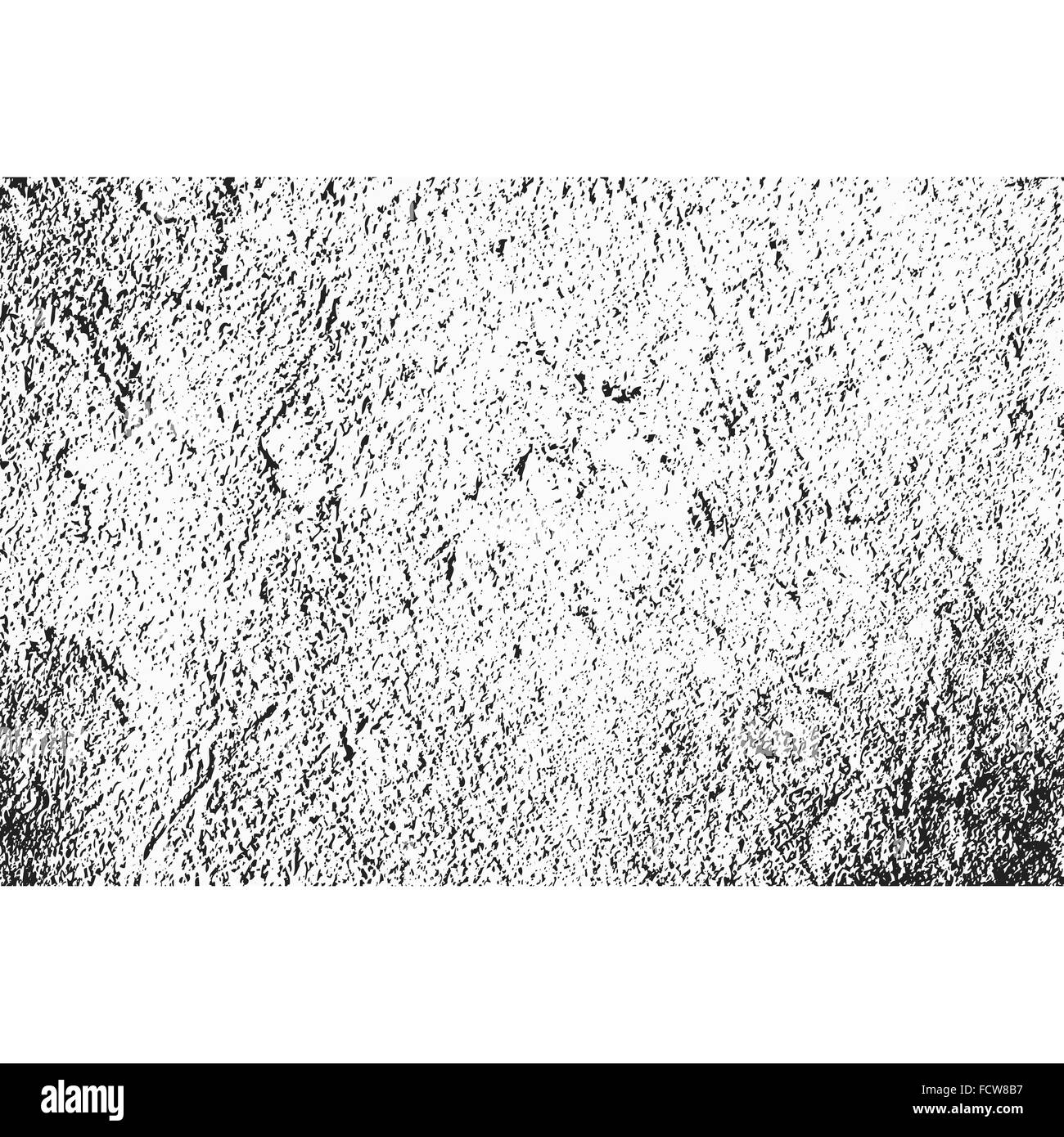 vector grunge monochrome scratch rough dirty wall surface texture background - Stock Image