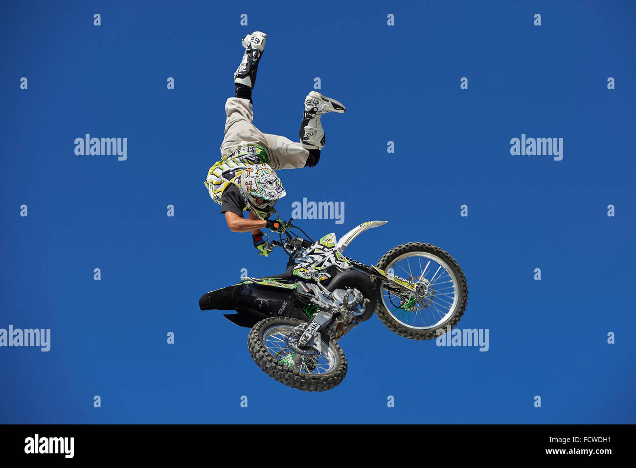 FMX Rider Daice Suzuki during the FMX Style Session at freestyle ch