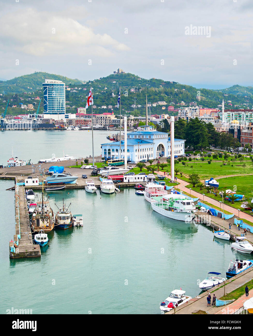 Batumi Sea Port and passenger terminal. Georgian Republic - Stock Image