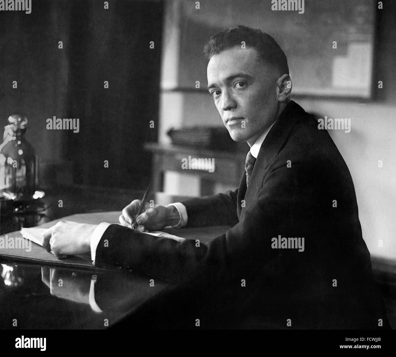 J Edgar Hoover, the first Director of the Federal Bureau of Investigation (FBI) in the USA, December 1924. When - Stock Image