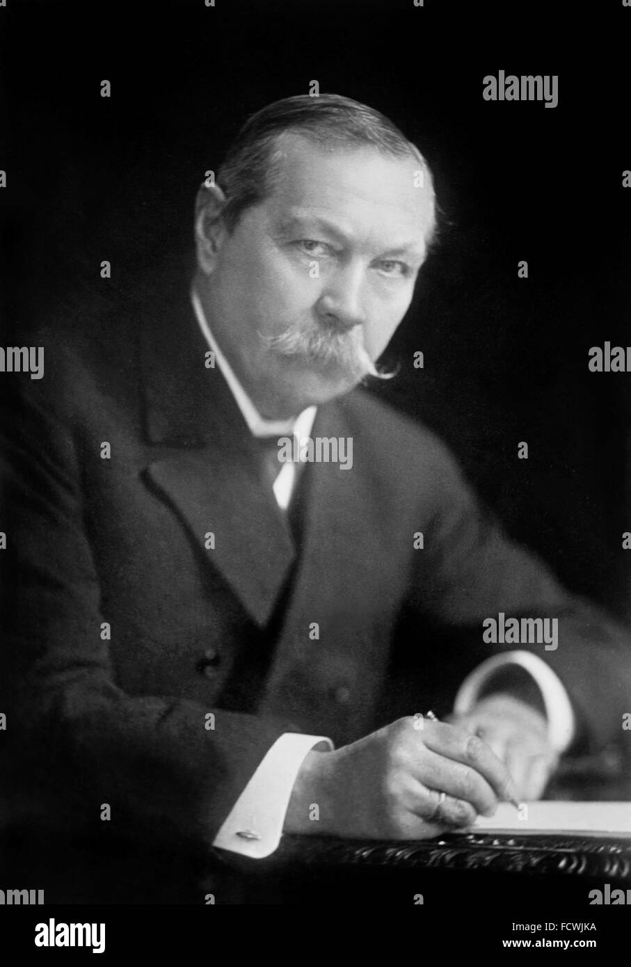 Arthur Conan Doyle. Portrait of the British writer and physician, Sir Arthur Conan Doyle - Stock Image