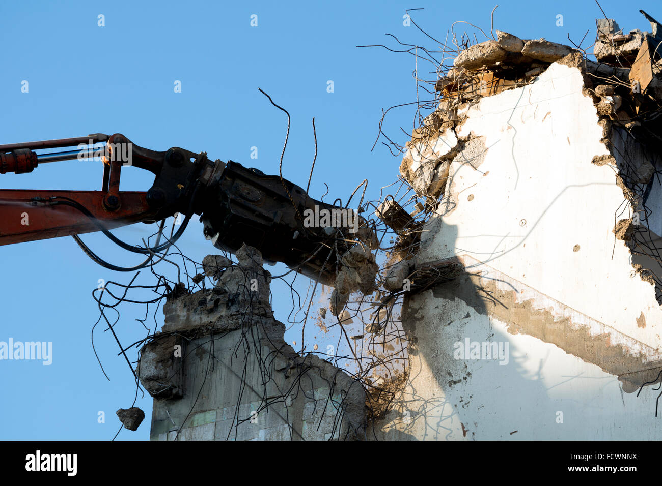 Demolition of former Royal Mail sorting office, Coventry city centre, UK - Stock Image