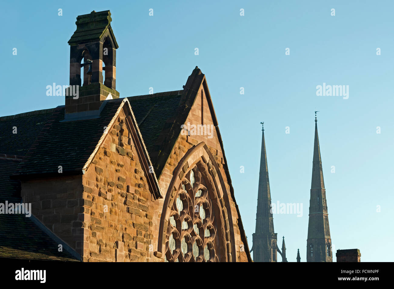 The Old Grammar School (St. John`s Hospital), Coventry, UK - Stock Image