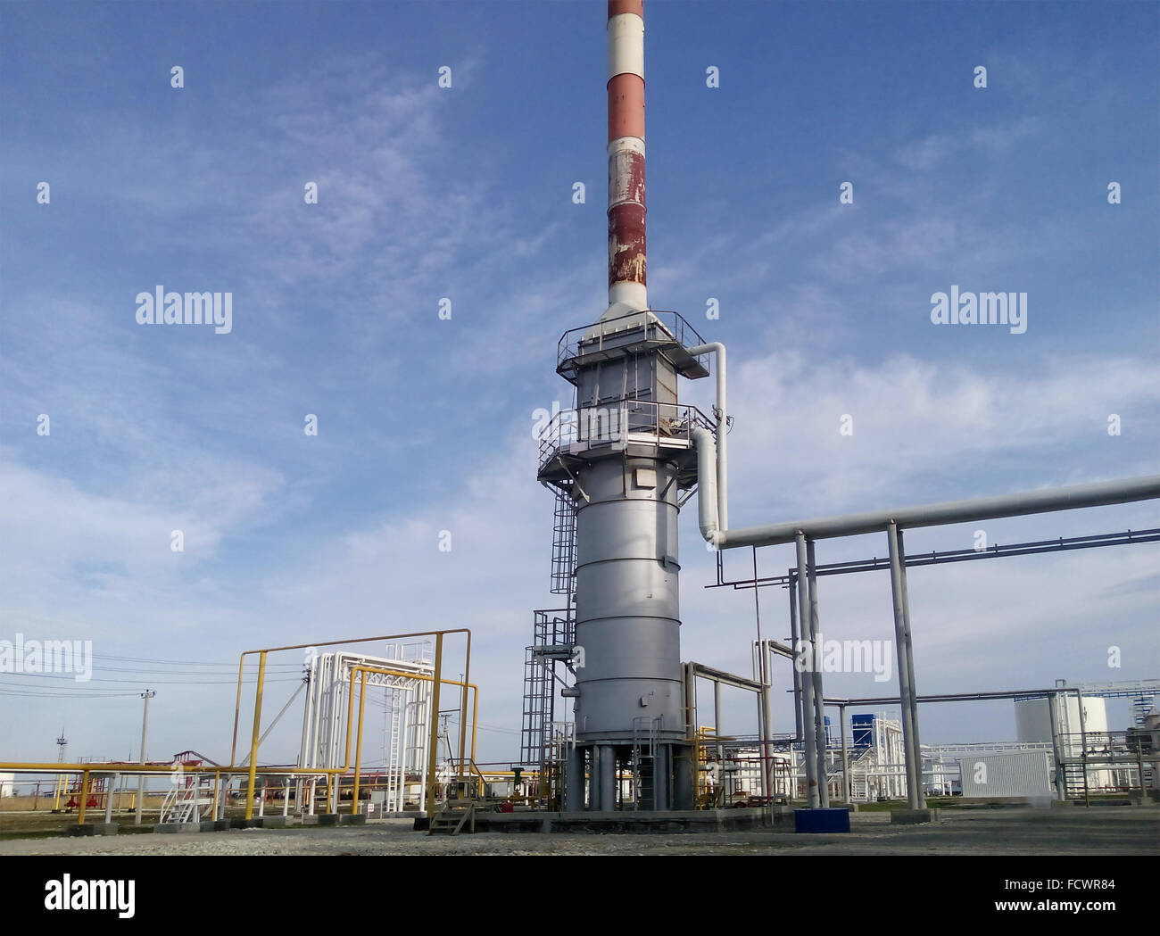 Furnace For Heating Oil At The Refinery The Equipment For