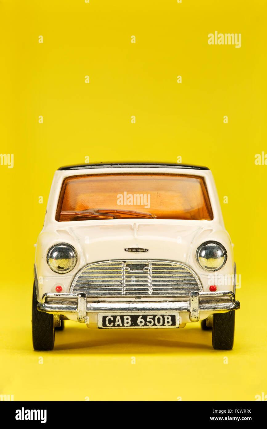 Vintage Mini Cooper Dinky Toy car - Stock Image