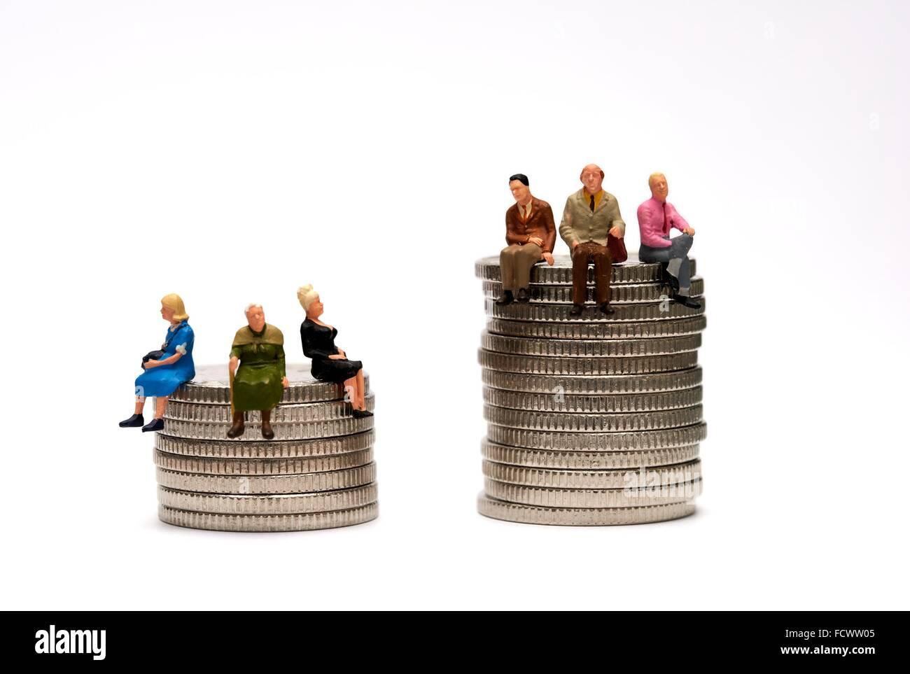 Pension gap concept - Stock Image