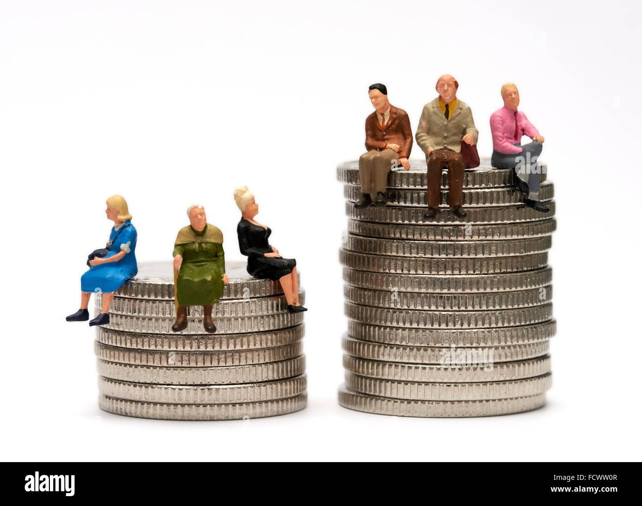 gender pay equality concept - Stock Image