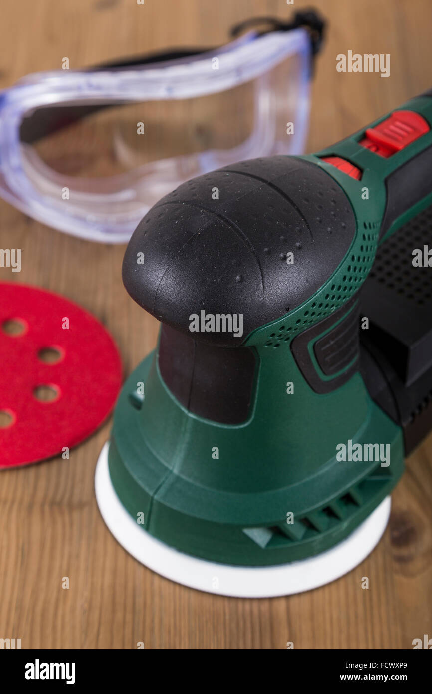 Orbital Power Sander with Disc - Stock Image