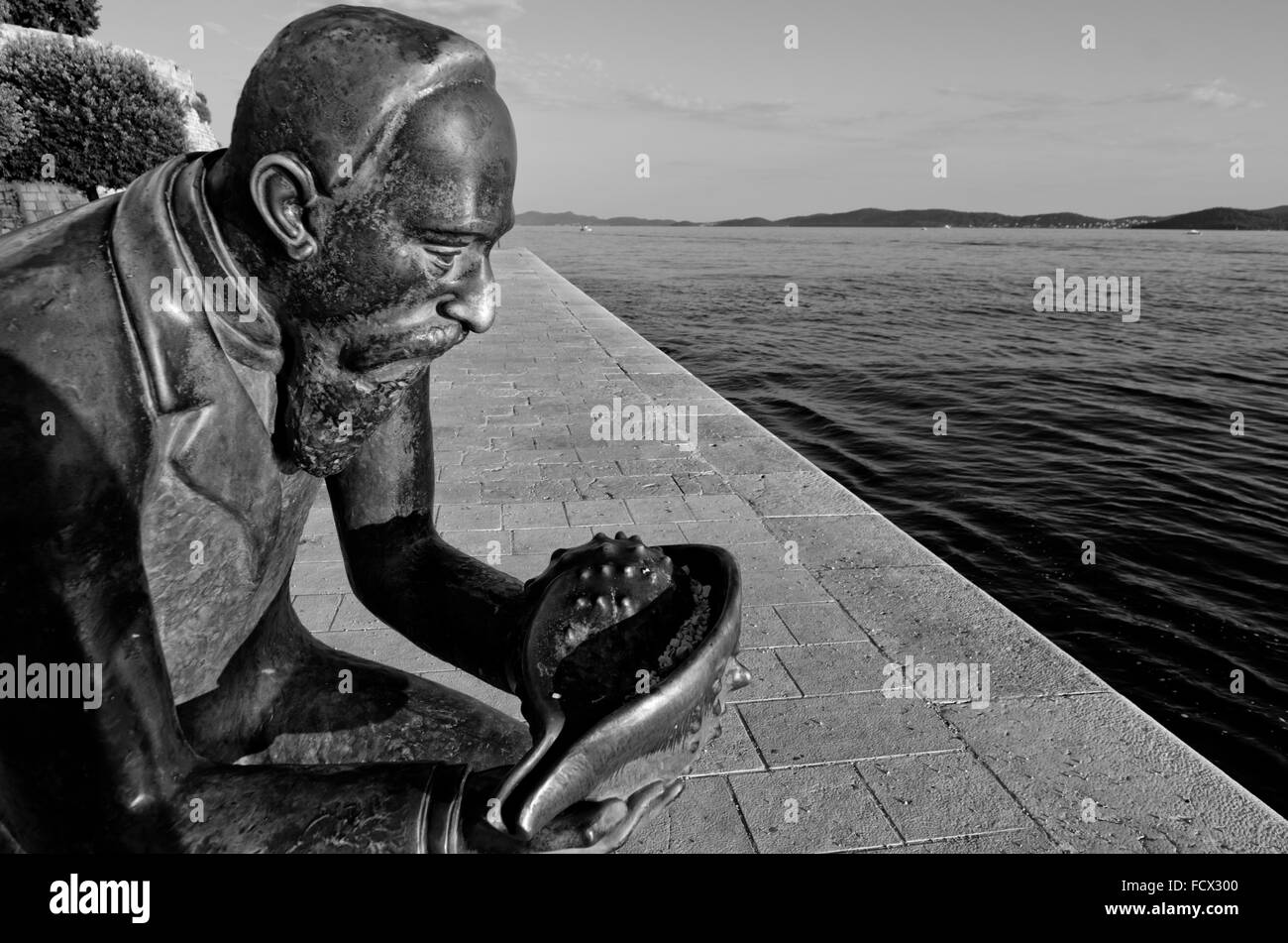Statue of Špiro Brusina in Zadar Croatia - Stock Image