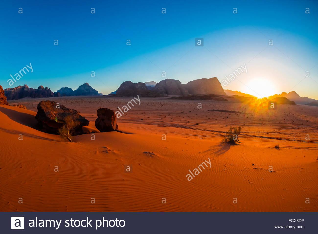 Arabian Desert, Wadi Rum, Jordan. - Stock Image