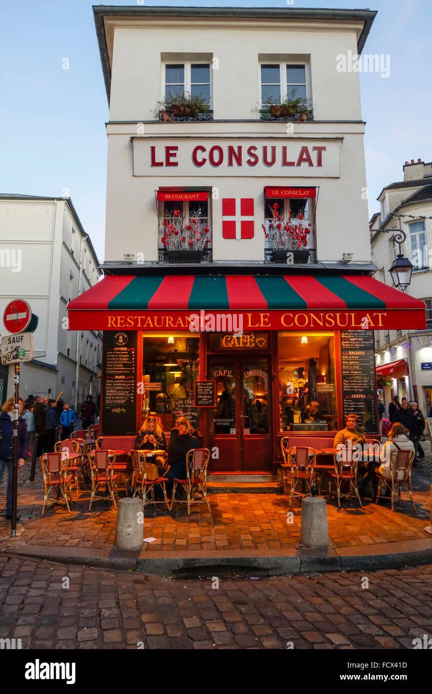 Caf Ef Bf Bd Montmartre  Rue Norvins  Paris