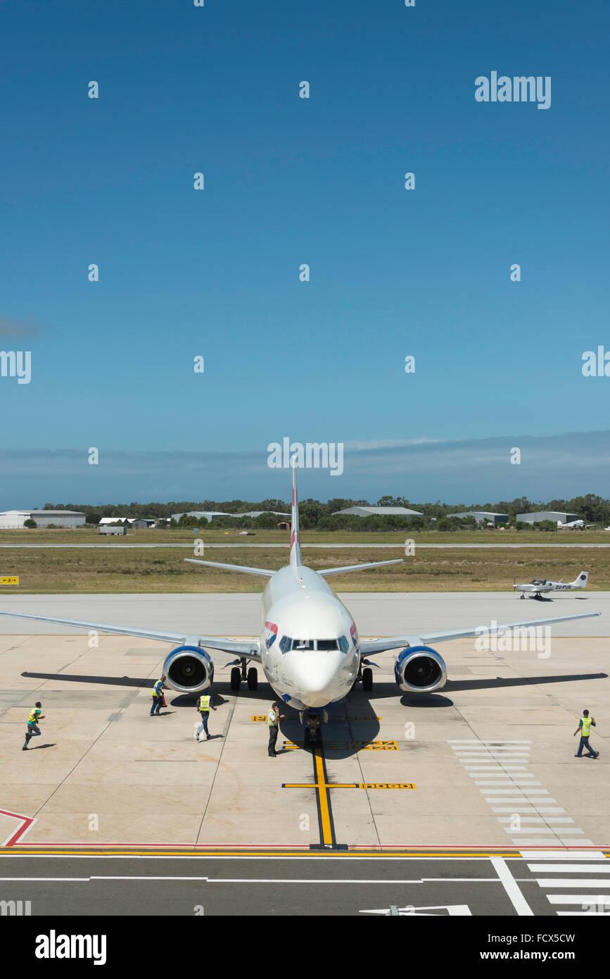 Comair Boeing 737 aircraft at Port Elizabeth International Airport, Port Elizabeth, Eastern Cape Province, South - Stock Image