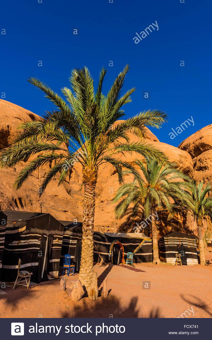 Captain's Desert Camp, Arabian Desert, Wadi Rum, Jordan. - Stock Image