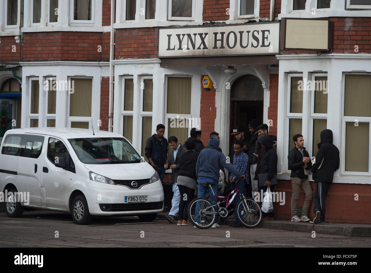 Lynx House in Cardiff, South Wales, which houses asylum seekers. - Stock Image