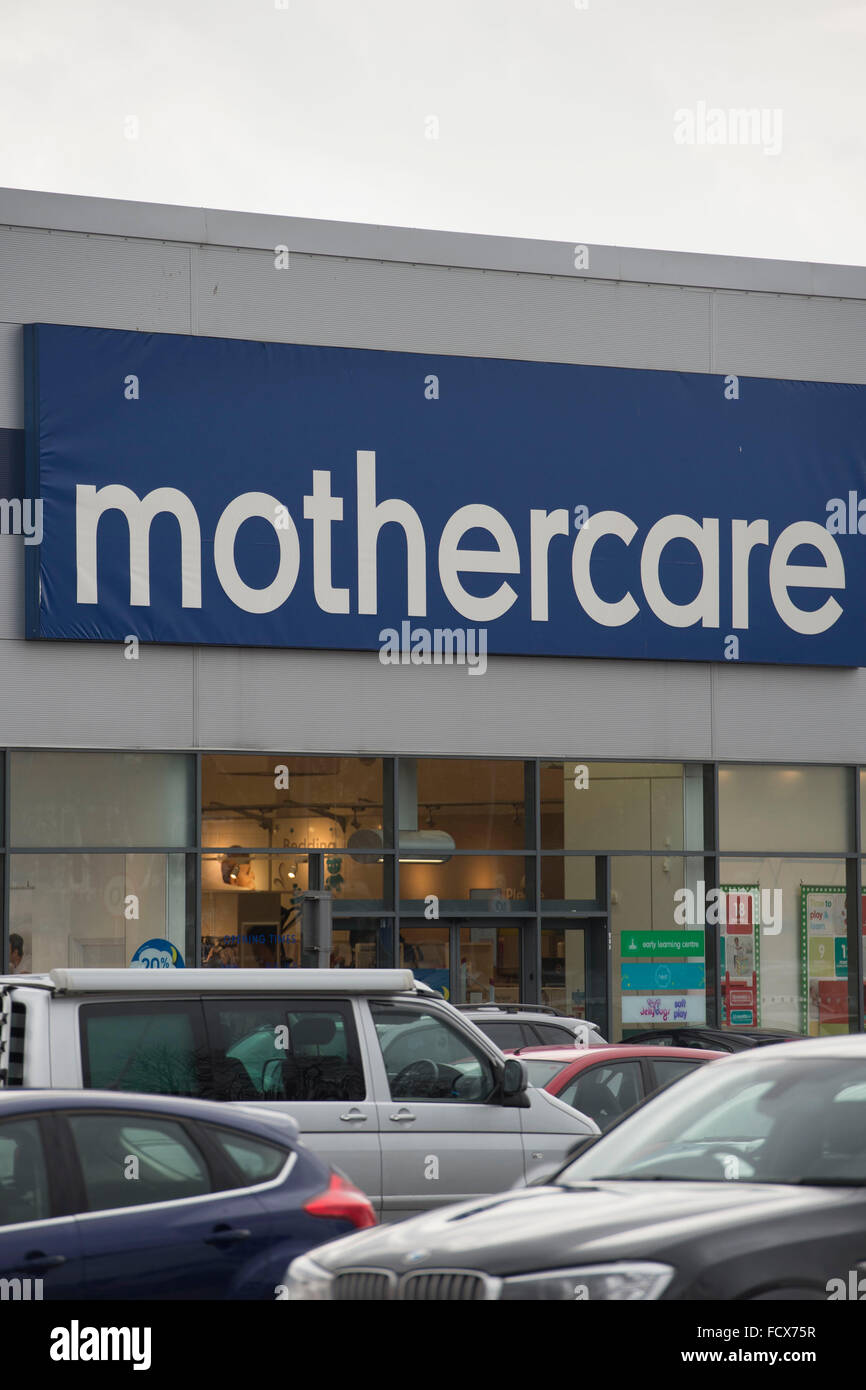 Mothercare store sign logo. - Stock Image