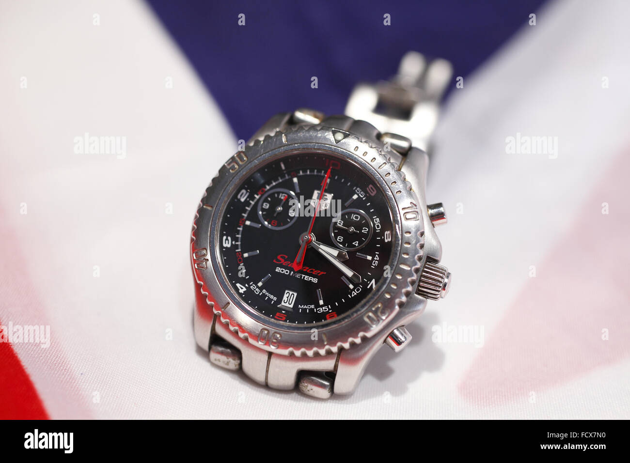 TAG Heuer - Searacer, sports chronography - Stock Image